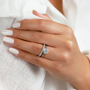 Solitaire Engagement Ring on hand
