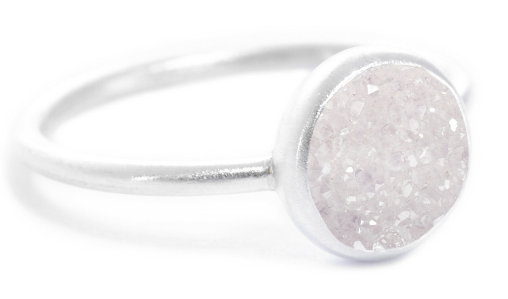White Druzy Chillaxin Ring