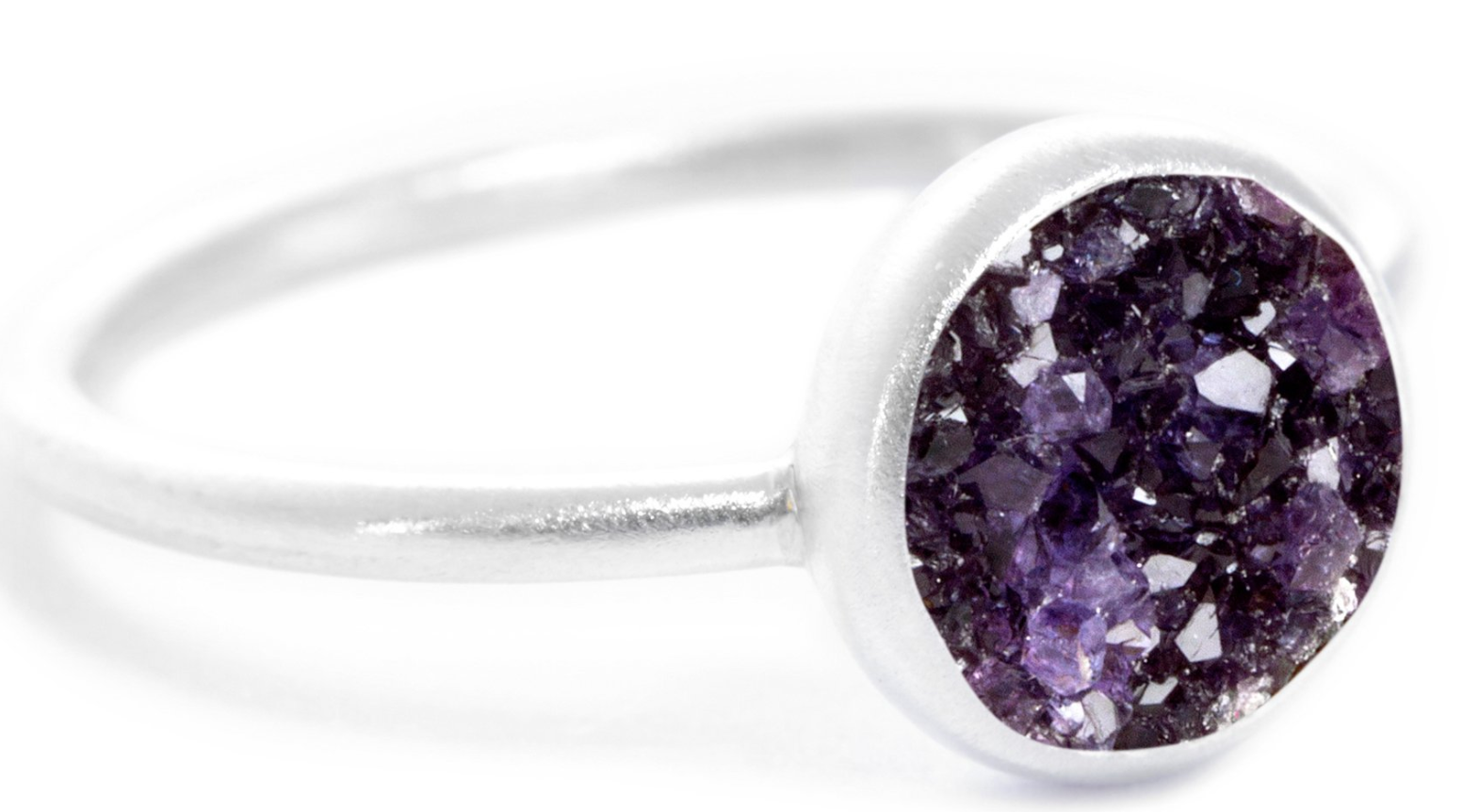 Amethyst Druzy Chillaxin Ring