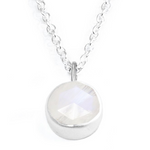 Moonstone Petal Necklace