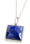 Sterling Silver Lapis Spirit Necklace