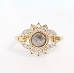 "Mason  Grace ""Constance"" One-of-a-Kind Rustic diamond Ring"