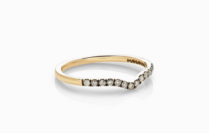 ManiaMania 14K Yellow Gold Unity Diamond Band