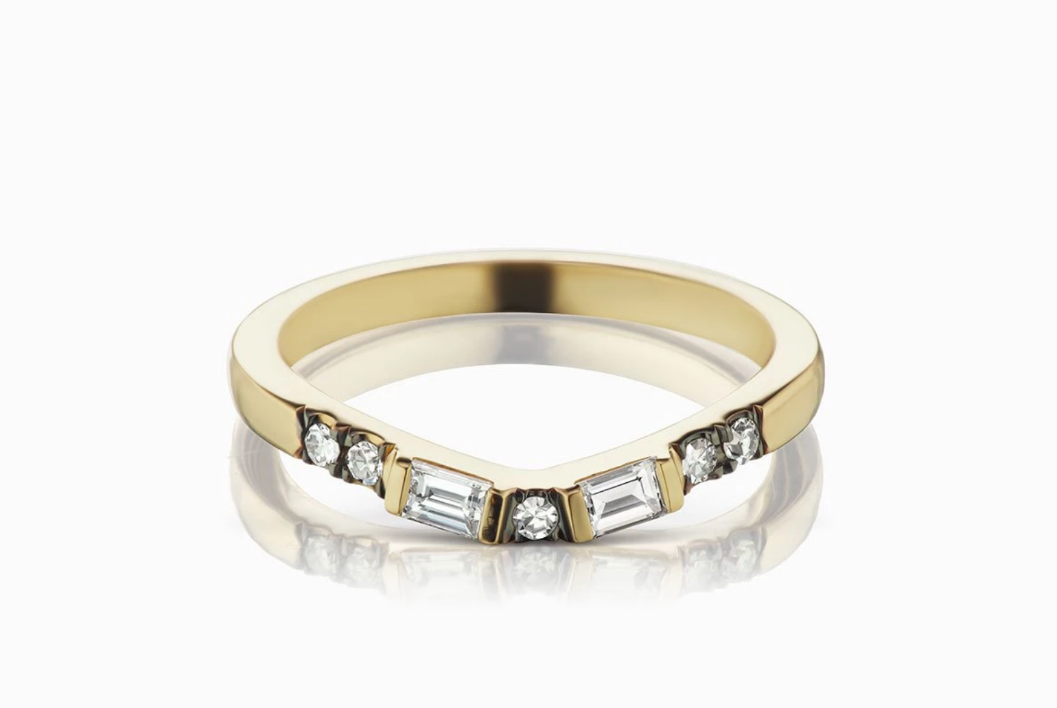 ManiaMania 14K Yellow Gold Diamond Vega Band