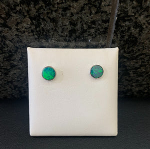 Opal Bezel Earrings