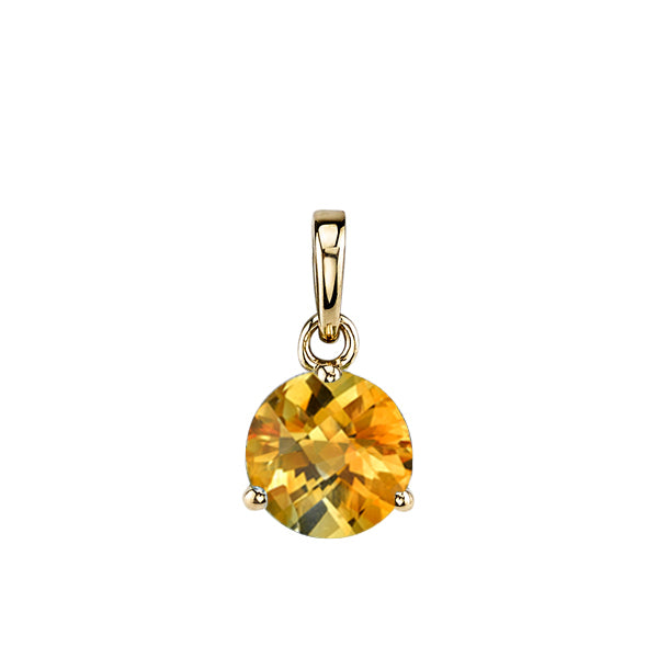 Citrine 14kt Yellow Gold Pendant