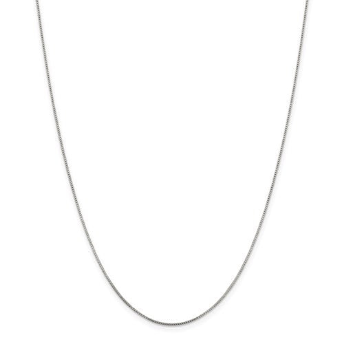 "18"" Sterling Silver Rhodium-plated .8mm Box Chain"