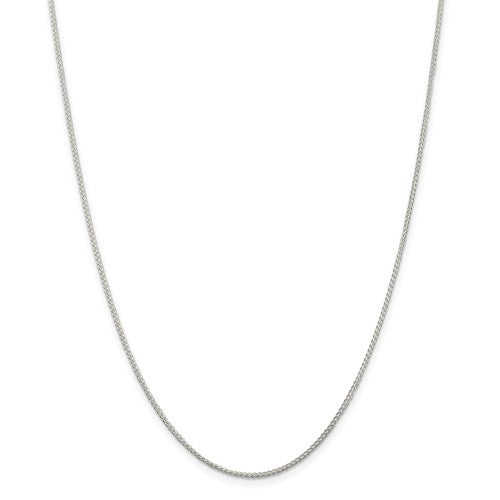 "18"" Sterling Silver 1.25mm Round Spiga/Wheat Chain"