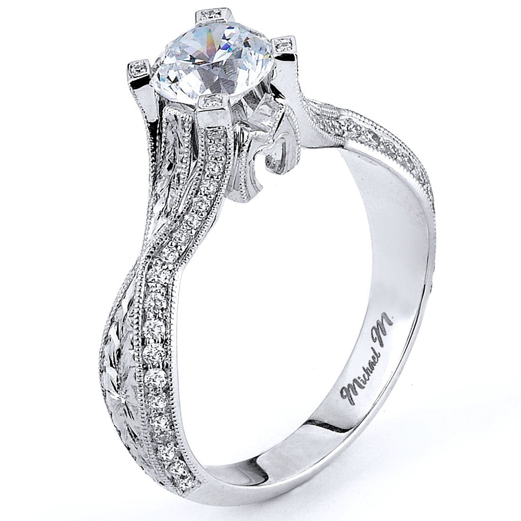Michael M. Collection R585-0.75 Engagement Ring