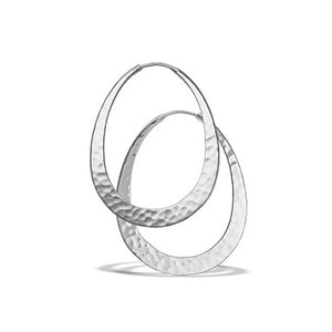 Toby Pomeroy Eco Silver Oval Hoop Earrings