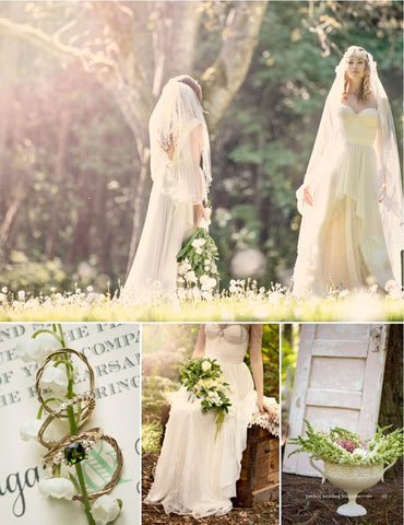 boho wedding in perfect wedding magazine - romantic rings by barbara michelle jacobs jewelry