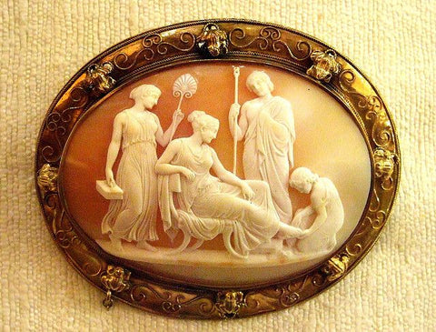 Shell Cameo, Birmingham Museum, 1840 | Barbara Michelle Jacobs Blog
