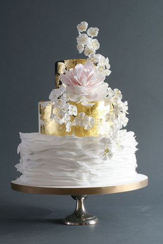 edible gold leaf wedding cake edible gold leaf barbara jewelry 13906