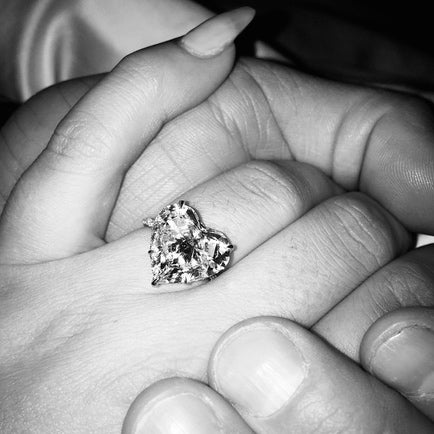 Lady Gaga's heart-shaped diamond engagement ring has dazzled fans and jewelry-lovers alike. Will her glittering rock spark the newest jewelry trend? | Barbara Michelle Jacobs Jewelry