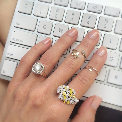 stacked rings, gold