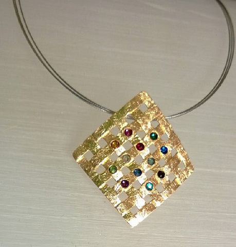 Gemstones in the bible barbara michelle jacobs jewelry 18k gold plated twelve tribes necklace aloadofball Images