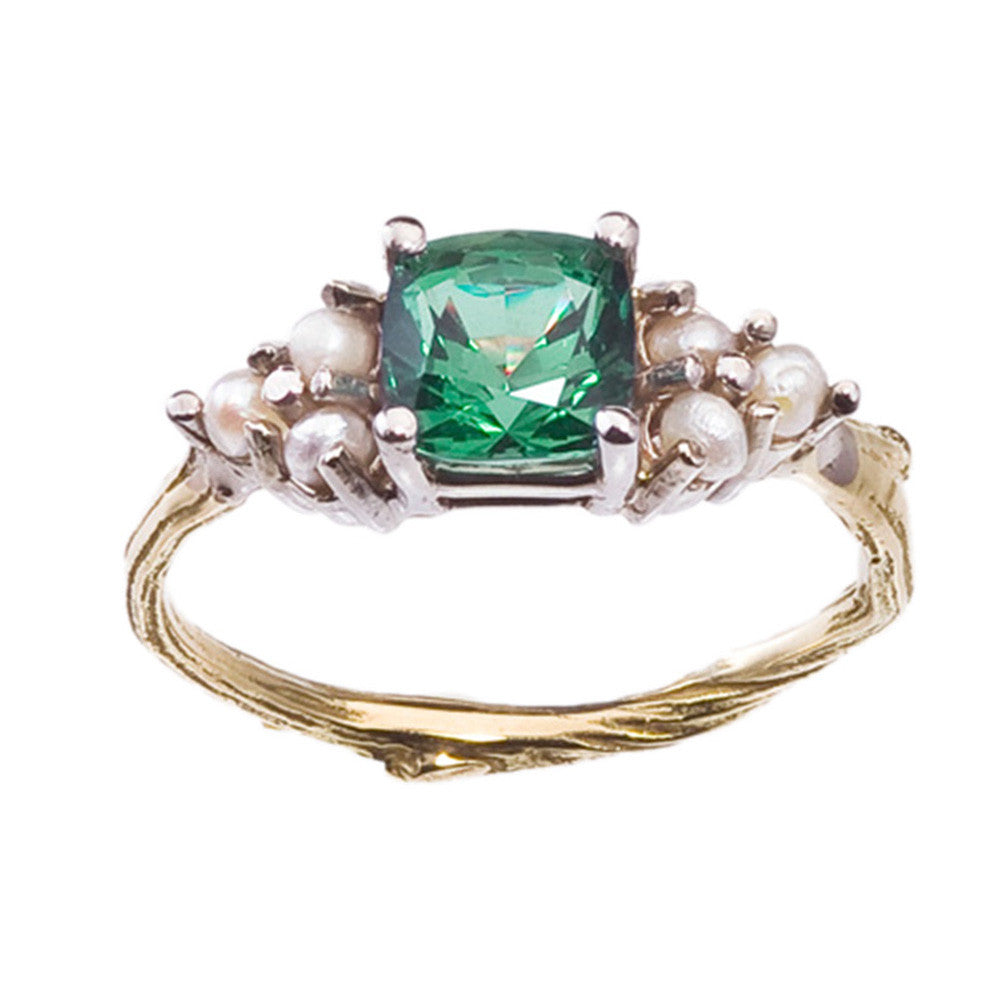 tourmaline ring john rings dyer green cut c fancy platinum engagement p tourmalinendiamond n cuts diamond