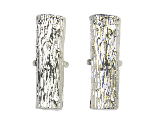 Branch Cuff Links in Recycled Sterling Silver - Nature Inspired and Refined