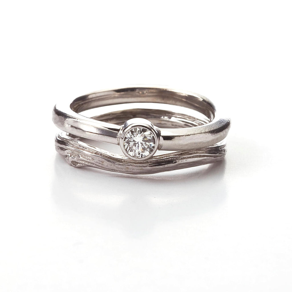 for band gold with bands white gallery diamond wedding women ring simple