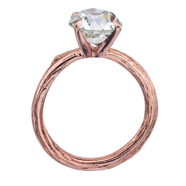 Custom Order - Antique Pre-Owned Diamond In Rose Gold in Organic Branch Setting