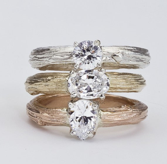 Diamond Solitaire Engagement Rings by Barbara Polinsky.