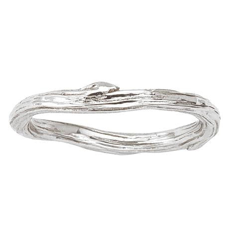 Twig Band by Barbara Polinsky.  A modern classic cast in 18K eco friendly gold.