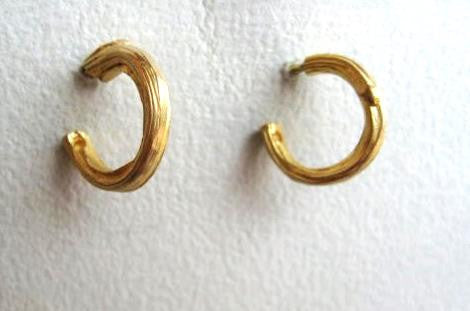 Small Twig Hoop Earrings.