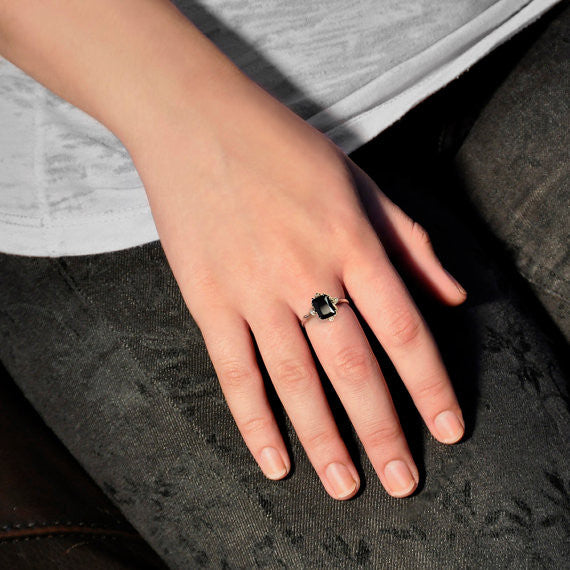 Onyx and Pearl Radiance Ring