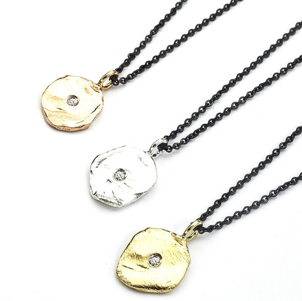 Perfectly Imperfect Gold Pendant Necklace