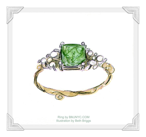 Green With Envy Pearl Ring