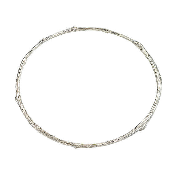 Twig bangle bracelet in recycled sterling silver by Barbara Polinsky