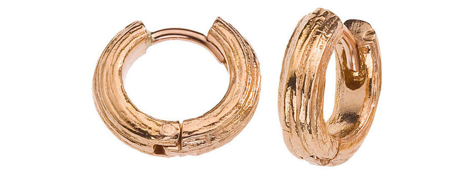Gold Branch Huggie Earrings