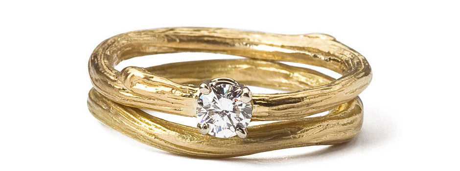 Ideal Twig Bridal Ring Set