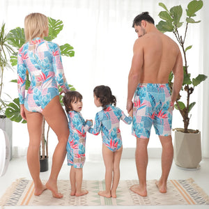 Baby Blue Family Swimsuit