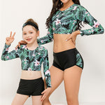 palm leaf mommy and me swimsuit by www.ellmii.com