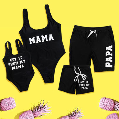 Mama & Papa Family Matching Bathing Suits - EllMii Boutique