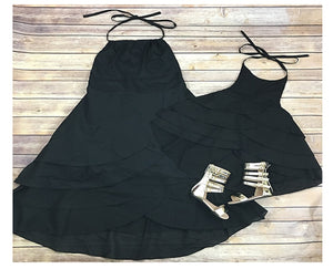 Isabel Black Matching Dress - EllMii Boutique