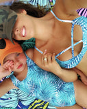 Blue Wave Family Matching Swimsuit