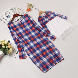 Plaid Mommy & Me Dress - EllMii Boutique