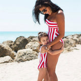 red and white mommy and me bathing suit be ellmii.com