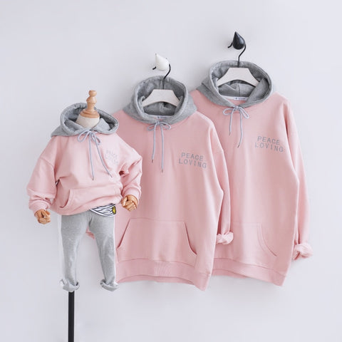 Peace Loving Matching Hoodies - EllMii Boutique