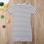 Striped T-Shirt Dress - EllMii Boutique
