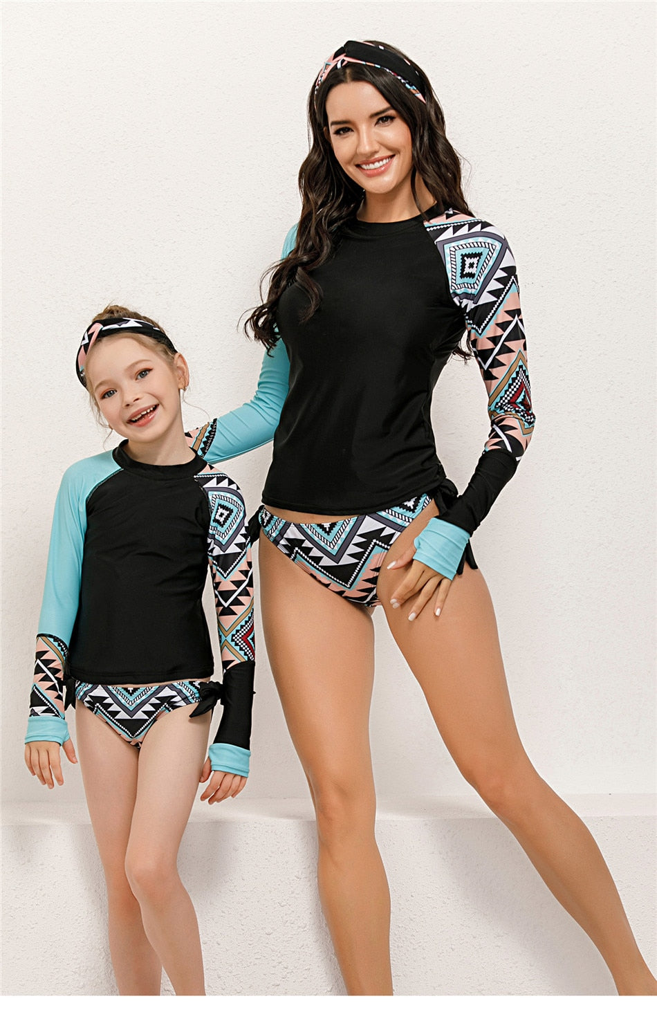 2 piece long sleeve swimsuit by www.ellmii.com