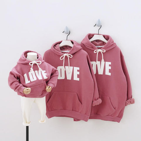 Love Print Hoodies