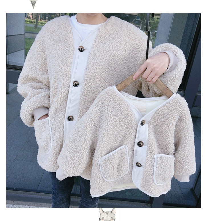 Lamby Button Up Sweater - EllMii Boutique