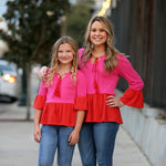 mommy and me ruffle blouse by www.ellmii.com