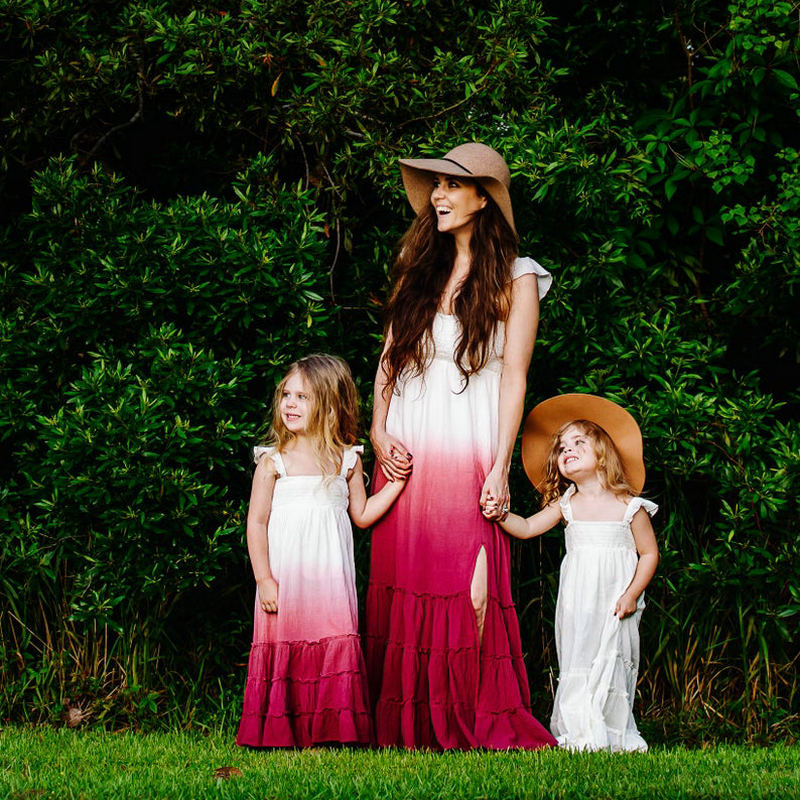 matching summer mommy and me dresses by www.ellmii.com