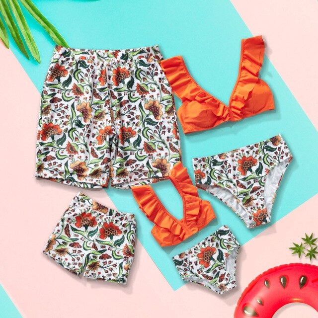 Marigold Family Matching Swimsuits - EllMii Boutique