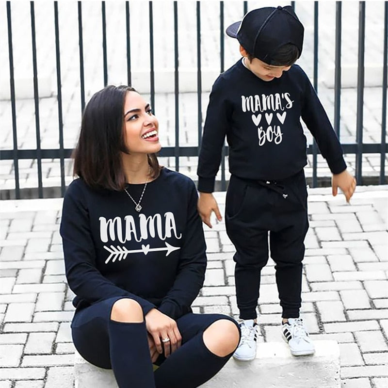 Mama's Boy Matching Sweater's - EllMii Boutique