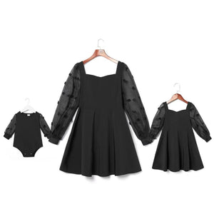 mommy and daughters black dress by www.ellmii.com